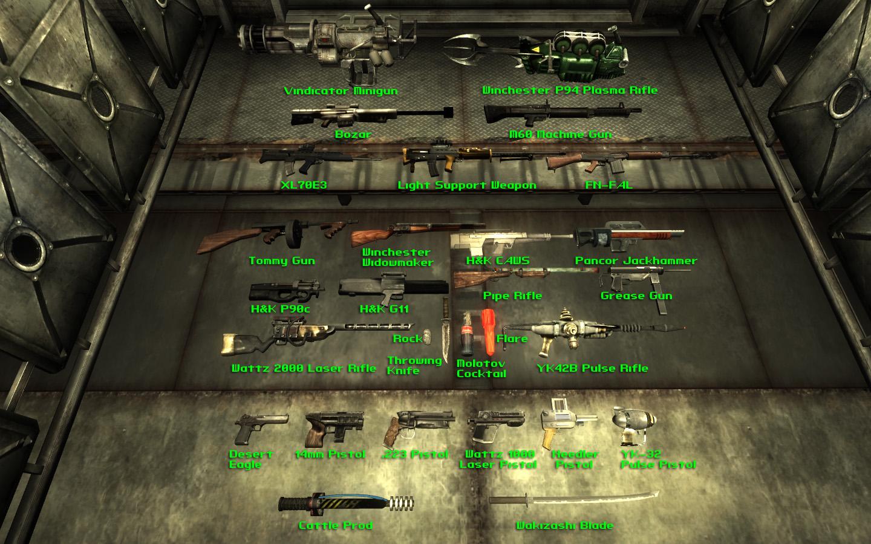 схемы на оружие фоллаут нью вегас